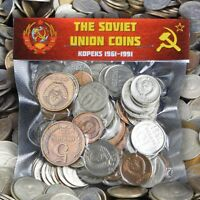 USSR SOVIET UNION RUSSIA COINS KOPEKS 1961-1991 MIXED BULK LOT POUNDS - KILOGRAM