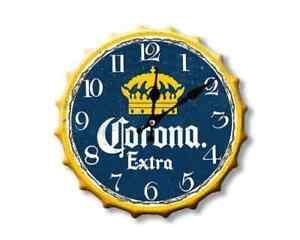 Corona 30cm Diameter Bottle Top Sign Clock