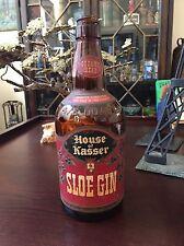 Antique Vintage House of Kasser Sloe Gin Bottle