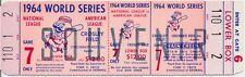 1964 WORLD SERIES BASEBALL SOUVENIR TICKET CROSLEY FIELD GAME 7