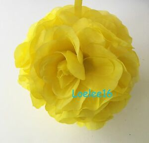 """7"""" Flower Kissing Ball Wedding Silk Rose Party Pomander - 20 Colors available"""