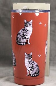 Tabby Kitty Silver Ultimate Travel Tumbler New In Box