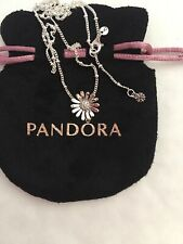Pandora Pave Daisy Flower Collier Necklace In Pandora Pouch