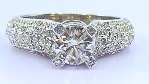 1.20 ct natural DIAMOND solitaire ENGAGEMENT ring 14k white gold (VIDEO)