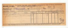BC119 1892 GB Midland Railway Parcel Way Bill {samwells} PTS