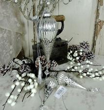 Markenlose Kristall-Eiszapfen & Christbaumschmuck aus Glas