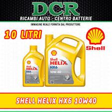 OLIO MOTORE SHELL HELIX HX6 10W40 SINTETICO ACEA A3/B4 10 LITRI - 502.00 505.00
