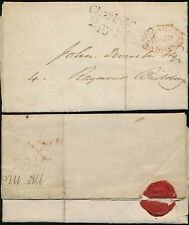GB 1830 LONDON LOCAL POST CHARING CROSS 2py P PAID...CAPT MARRYAT + DOG SEAL