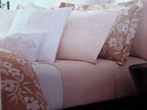 New Ralph Lauren Haluna Bay Floral Tan & Cream Full Queen Duvet Cover & 2 Shams