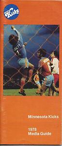 1978 Minnesota Kicks Media Guide