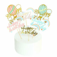 1/5/10Pc Paper Happy Birthday Rainbow Cake Topper Cupcake Dessert Decor Supplies