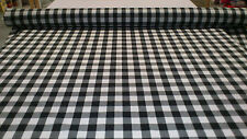 "BLACK/WHITE GINGHAM YARN DYED TABLE CLOTH FABRIC 1"" :  $8.90 P/M : RG1"