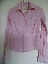 HOLLISTER Button Up Women's Shirt Pink - striped  Sz S