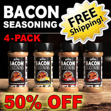 Bacon Seasoning 4-Pack Combo ~ Deliciou ~ 50% OFF FREE SHIPPING BBQ SPRING SALE!