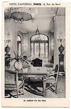 CPA 75 - PARIS - Hôtel CALIFORNIA, 16 rue de Berri. Le Jardin vu du Hall