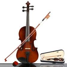 More details for 1/4 size basswood acoustic violin + case + bow + rosin for kids student beginner