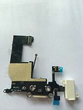 Charging Port Dock Connector headphone Flex Cable with mic for  WHITE iPhone 5