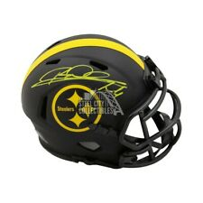 Rod Woodson Autographed Pittsburgh Steelers Eclipse Mini Football Helmet BAS COA