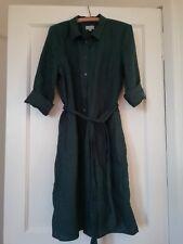 Beautiful BNWOT Green Linen Jigsaw Dress Size 12