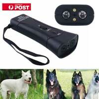 Ultrasonic Anti Dog Barking Trainer LED Light Gentle Chaser Petgentle Sonic AU