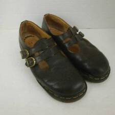 Dr Doc Martens Brown Leather Double T Strap 8065 Women's 10 Buckles
