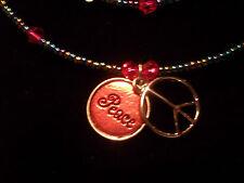 Handmade ADJUSTABLE Fashion CRYSTAL Jewelry Memory Wire Necklace & Bracelet Set