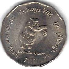 INDIA: 100 PIECES UNC 2003 150TH ANN INDIA RAILWAY COMMEMORATIVE 2 RUPEES,KM#307