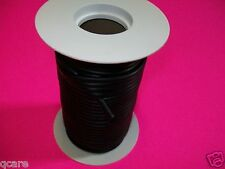 "50 FeeT REEL 1/8"" ID X 1/32 w X 3/16 O.D LATEX BLACK RUBBER TUBING SURGICAL"