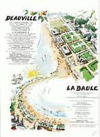 Publicité anciennes Deauville la Baule 1961 issue de magazine