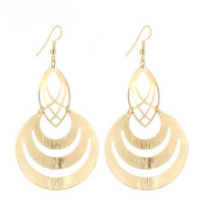 Big Gold Disc Earrings Round Long Statement Party Drop Ethnic Dangle Indian Boho