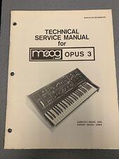 Vintage MOOG Opus 3 Synthesizer Service Manual 339A 339BX