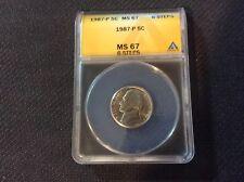 1987-P MS67FS 6 Steps ANACS 5C Jefferson Nickel