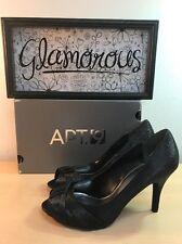 Women's APT. 9 PAULINA Black Textured PeepToe Pumps Heels Size 9.5M NEW!!