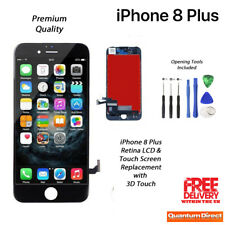 NEW iPhone 8 Plus Retina LCD & Digitiser Touch Screen Replacement AAA - BLACK