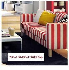 IKEA Karlstad 2-Seat Loveseat Sofa Rannebo Red White Stripe COVER(MatesAvail)NEW