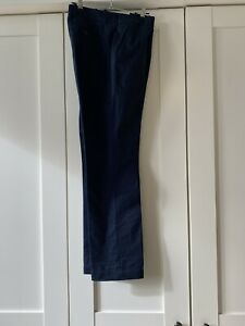 Lacoste Rather Nice Slim Navy Cotton  Trousers F 44/ UK 14-16 32 inside leg