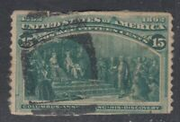 "USA Scott #238 15 cent dark green ""Columbian Exposition""   filler"