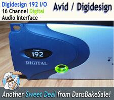 Digidesign Avid 192 i/O Digital Interface I/O 16 Channel Digital for Pro Tools