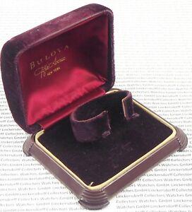 BULOVA Box für Armbanduhren Kunststoff mit Samt verkleidet