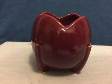Vintage NMMcCoy USA Pottery burgundy Footed Planter Bowl Dish