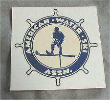 Vtg. AWSA American Water Ski/Skis Association Water Transfer Decal/Hot/Rat/Boat