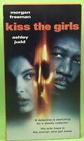 KISS THE GIRLS VHS 1998 Morgan Freeman Ashley Judd Cary Elwes Tony Goldwyn