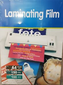 High Quality Laminating Pouch,Pouches,Film 150mic A4 (100 Sheets Pack)