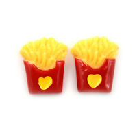 2x Miniature Dollhouse Small Love French Fries Kitchen Room Food De xh S~RK