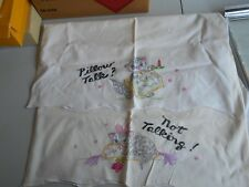 "Vintage Hand Stitched Pillow Cases ""Pillow Talk, Not Talking"""