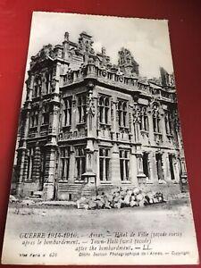 Guerre 1914-16  Arras  Hotel De Ville After Bombardment.  1940s Posted Postcard