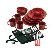 Camping Eating Utensils Outdoor Dining Set Dinnerware Camp Mug Coleman Plates