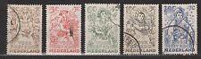NVPH Netherlands Nederland 544-548 used gest 1949 Kinderzegels Pays Bas