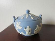 Wedgwood Blue Jasper Ware Lidded Sugar Bowl Jasperware  c414
