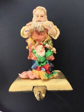 Santa Claus And puppet Tree Stocking Holder Hanger